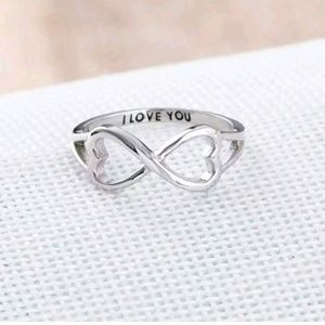 Jewelry - Sterling Silver Infinity Ring w/ engraved note